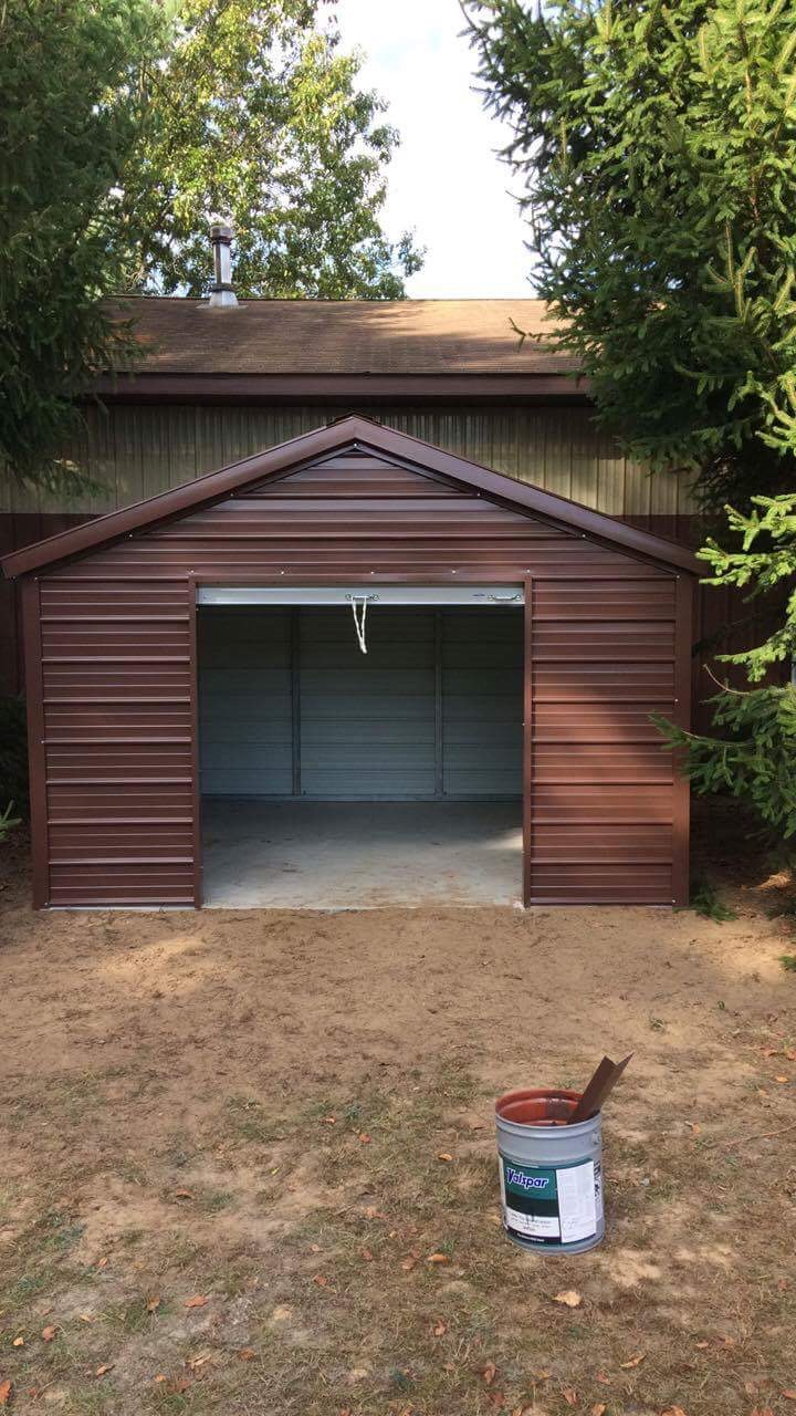12x12x6 Metal shed in Sparta, Michigan