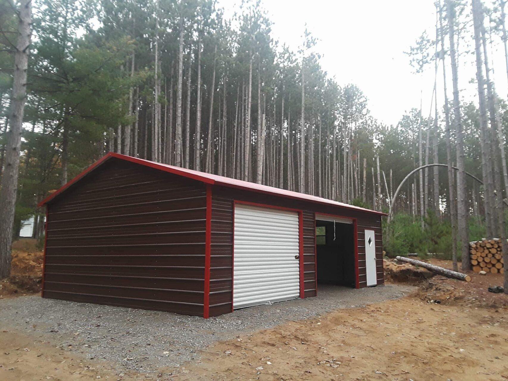 20x30x8 Side Entry Metal Garage