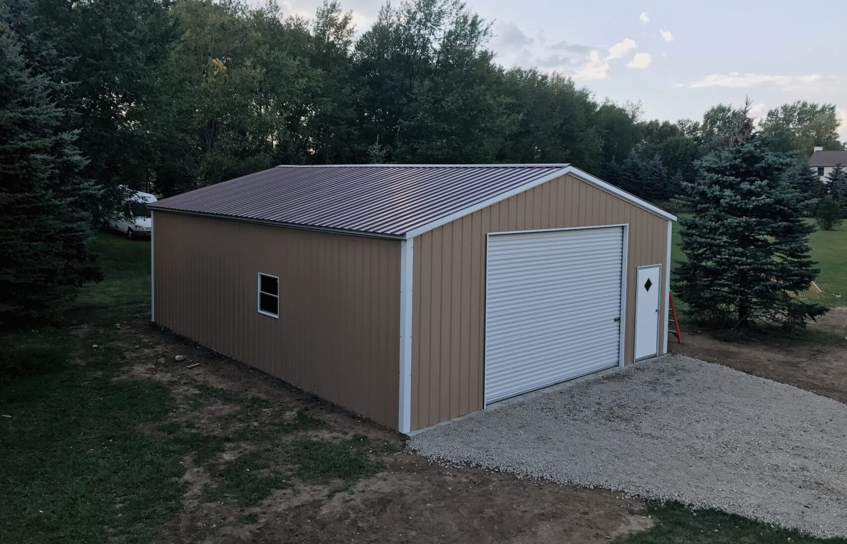 26x36x10 All Vertical Garage in Howell