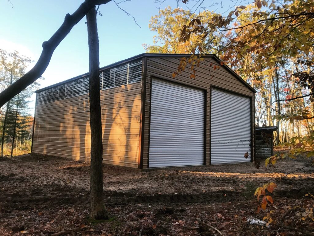 30x40x14 Steel Building in Bitely, Michigan