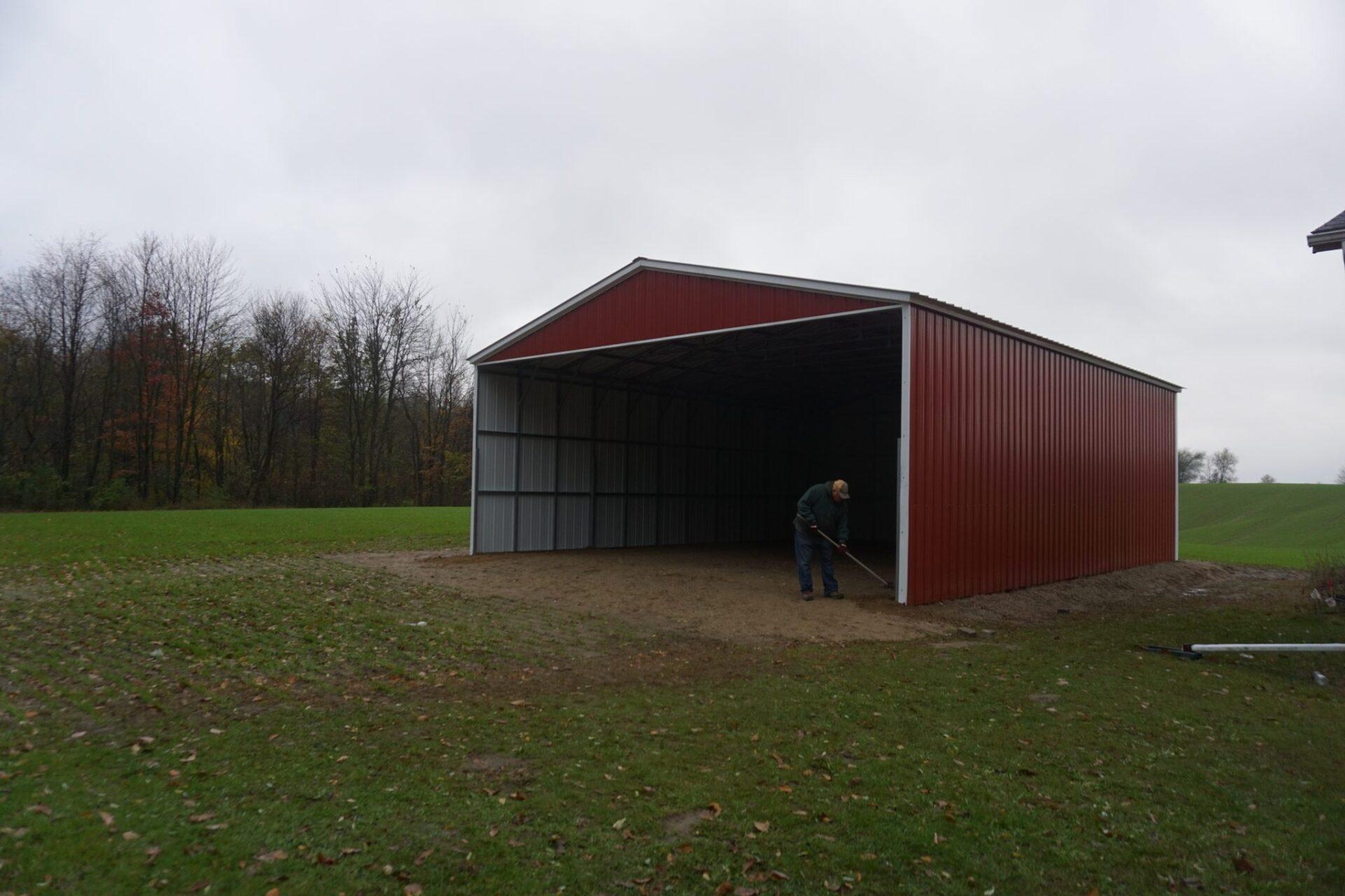 30x40x12 Steel Barn near Greenville, Michigan