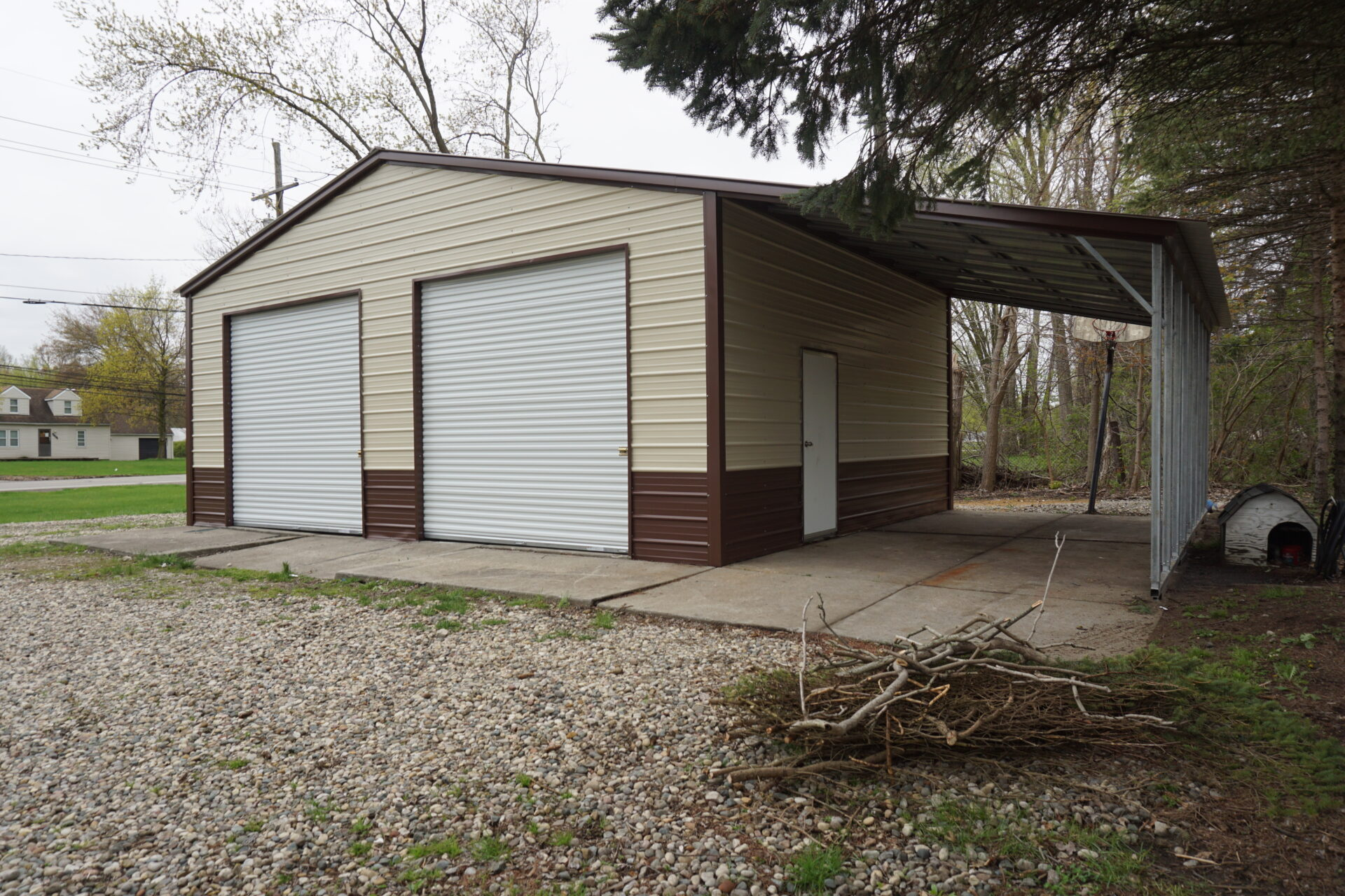 30x24x11 Steel Garage with Lean-to in Jackson, MI