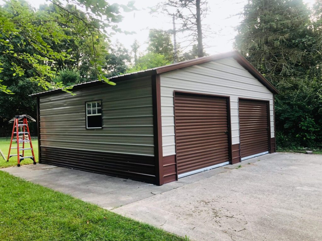 24x20x8 Steel Garage in Valparaiso, IN