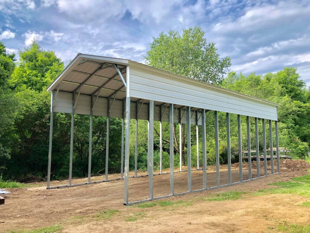 18x40x14 Steel RV Shelter in Omro, WI
