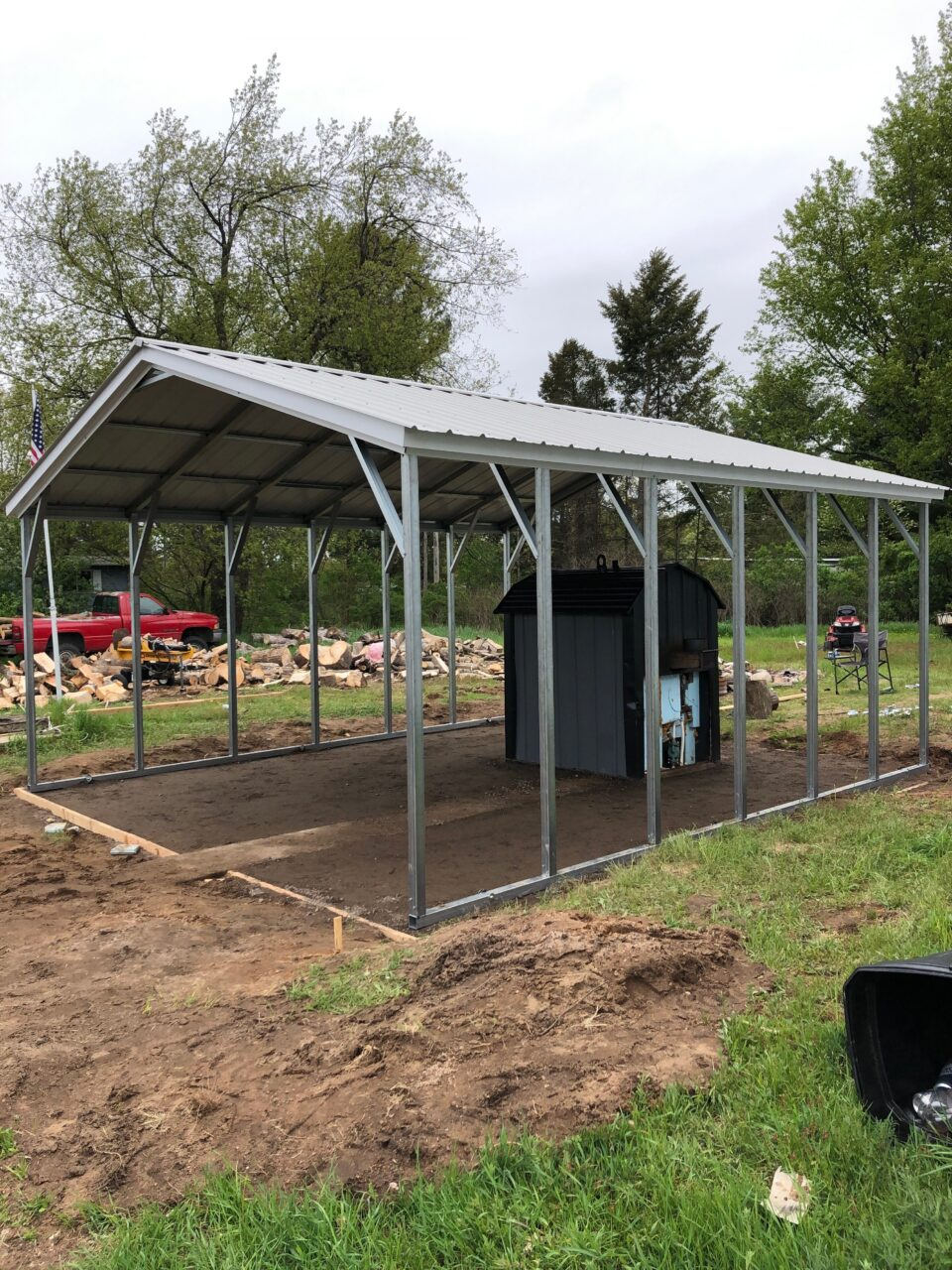 18x20x7 Steel Carport in Camden, OH