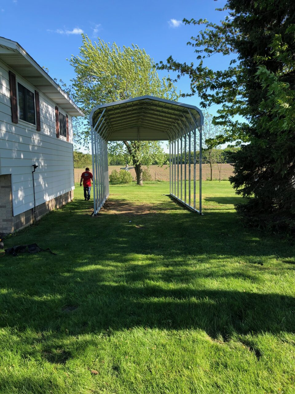 12x25x10 RV Shelter in Whitewater, WI