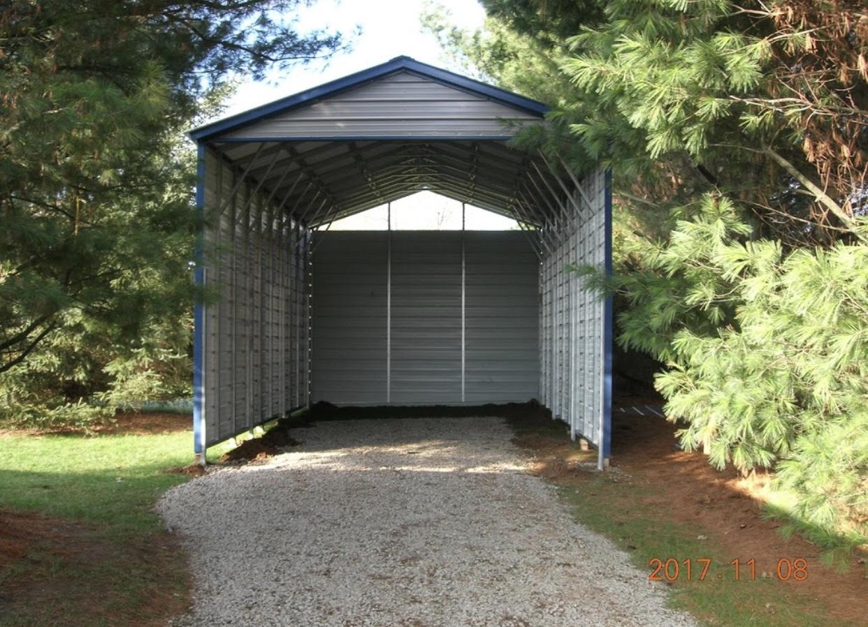 RV Steel Carport in Schoolcraft, Michigan | Midwest Steel ...