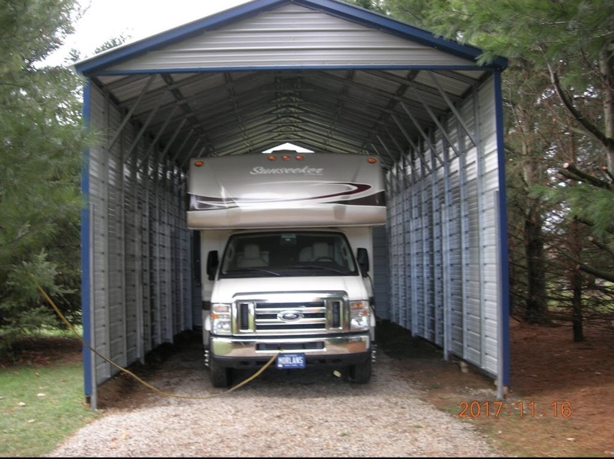 RV Steel Carport in Schoolcraft, Michigan