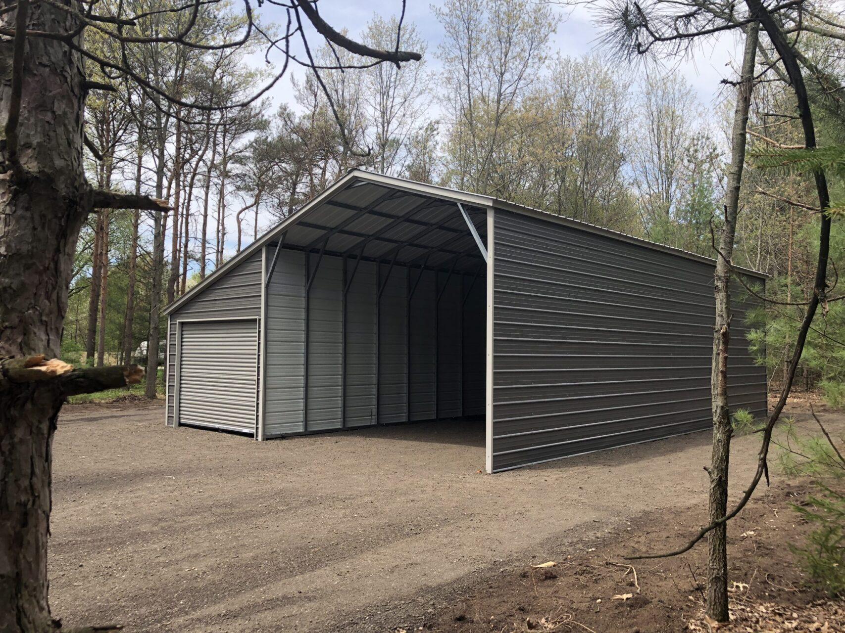 30x40x12-8 RV Carport with Lean To Storage in Fruitport, Michigan
