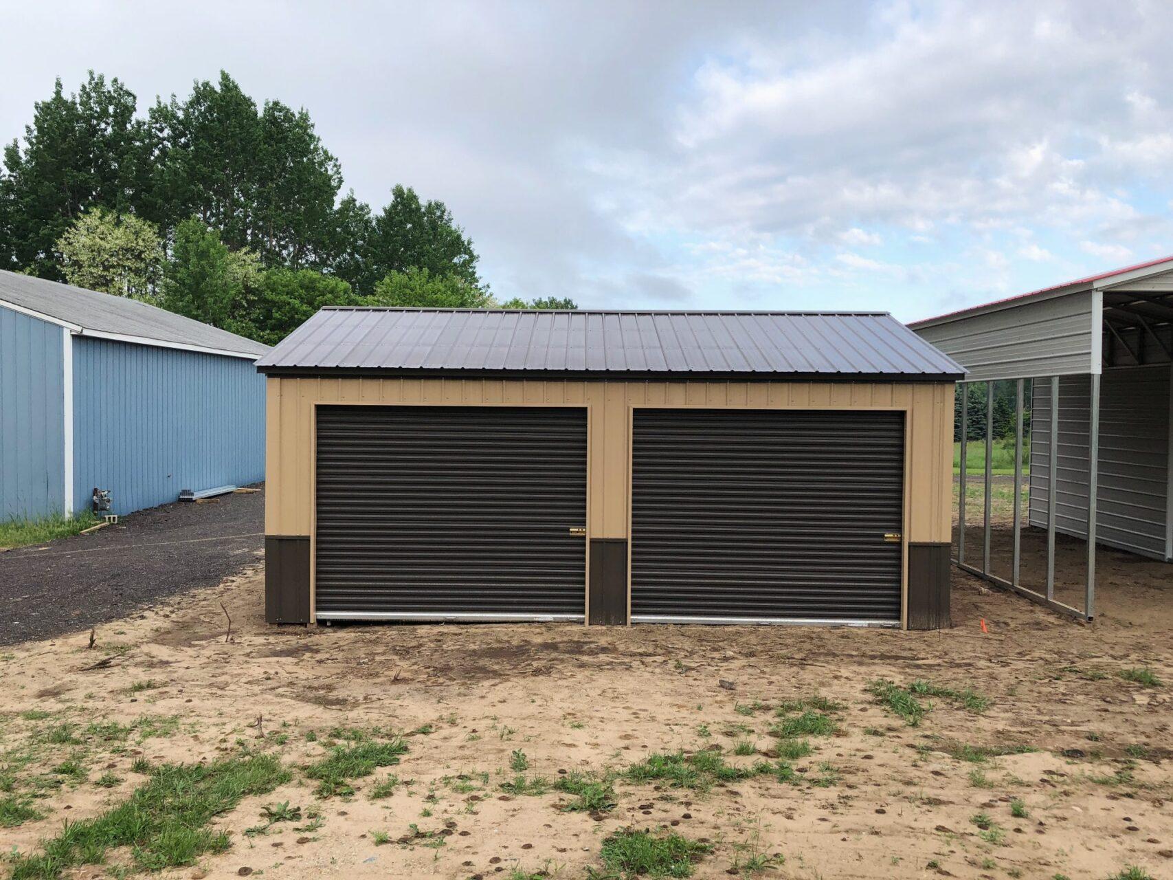18x25x9 All Steel Garage in Grant, Michigan
