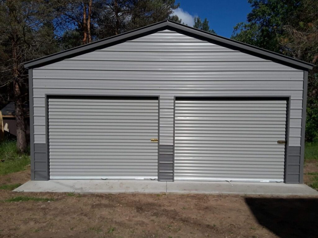 22x30x9 A-Frame Metal Garage in Kingsley, Michigan