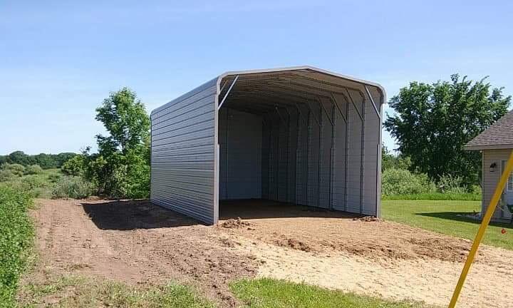 18x30x12 Metal Camper Storage in Beaverton, Michigan