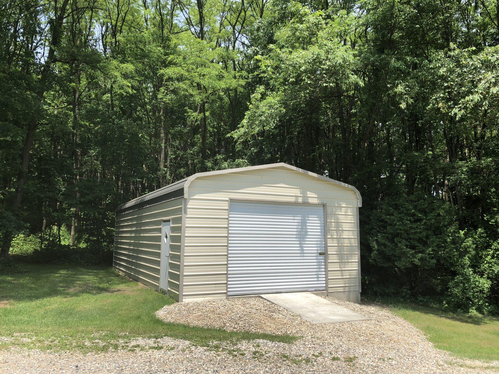 18x25x8 Metal Storage Building