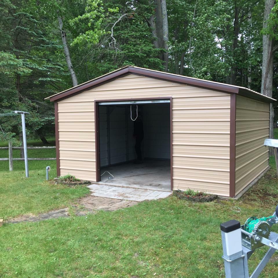 14x15x6 Aluminum Utility Shed in Alpena, Michigan