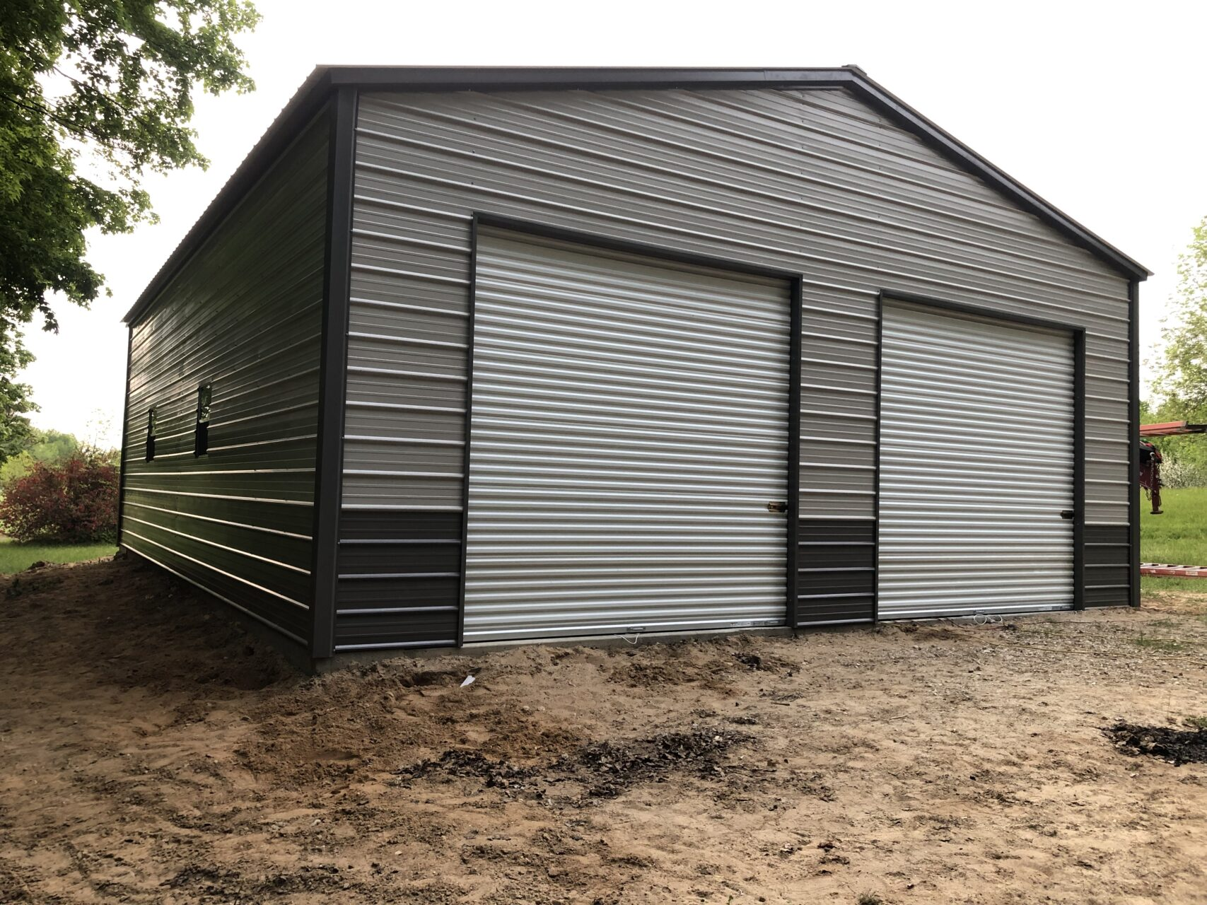30x40x12 Steel Garage in Fostoria, OH | Midwest Steel Carports