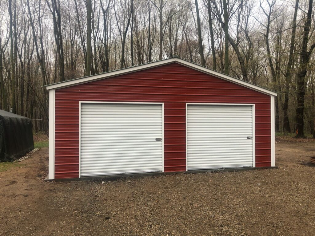 24x36x8 Steel Garage in Flint, Michigan