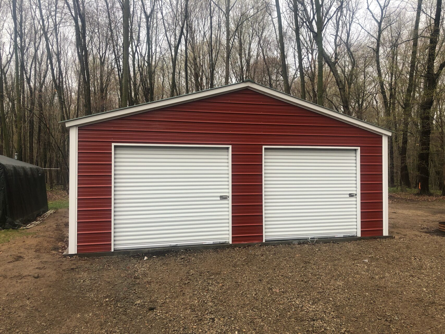 24x36x8 Steel Garage in Flint, Michigan