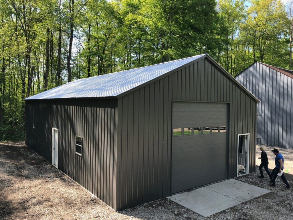 28x50x12 Steel Pole Barn in Brighton, MI