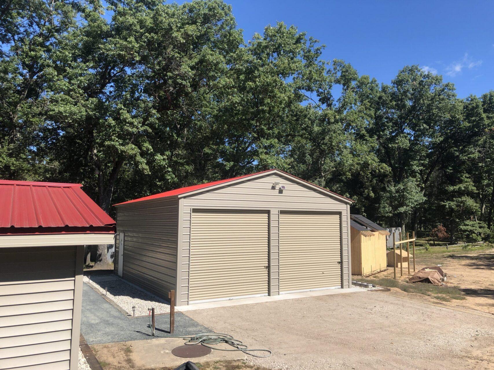 24x30x11 A-Frame Vertical Storage Garage