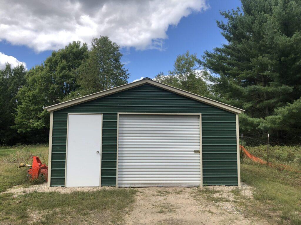 18x25x7 Single Stall Steel Garage