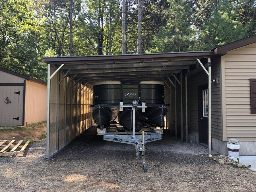 Midwest Steel Carports Free Standing Metal Lean To