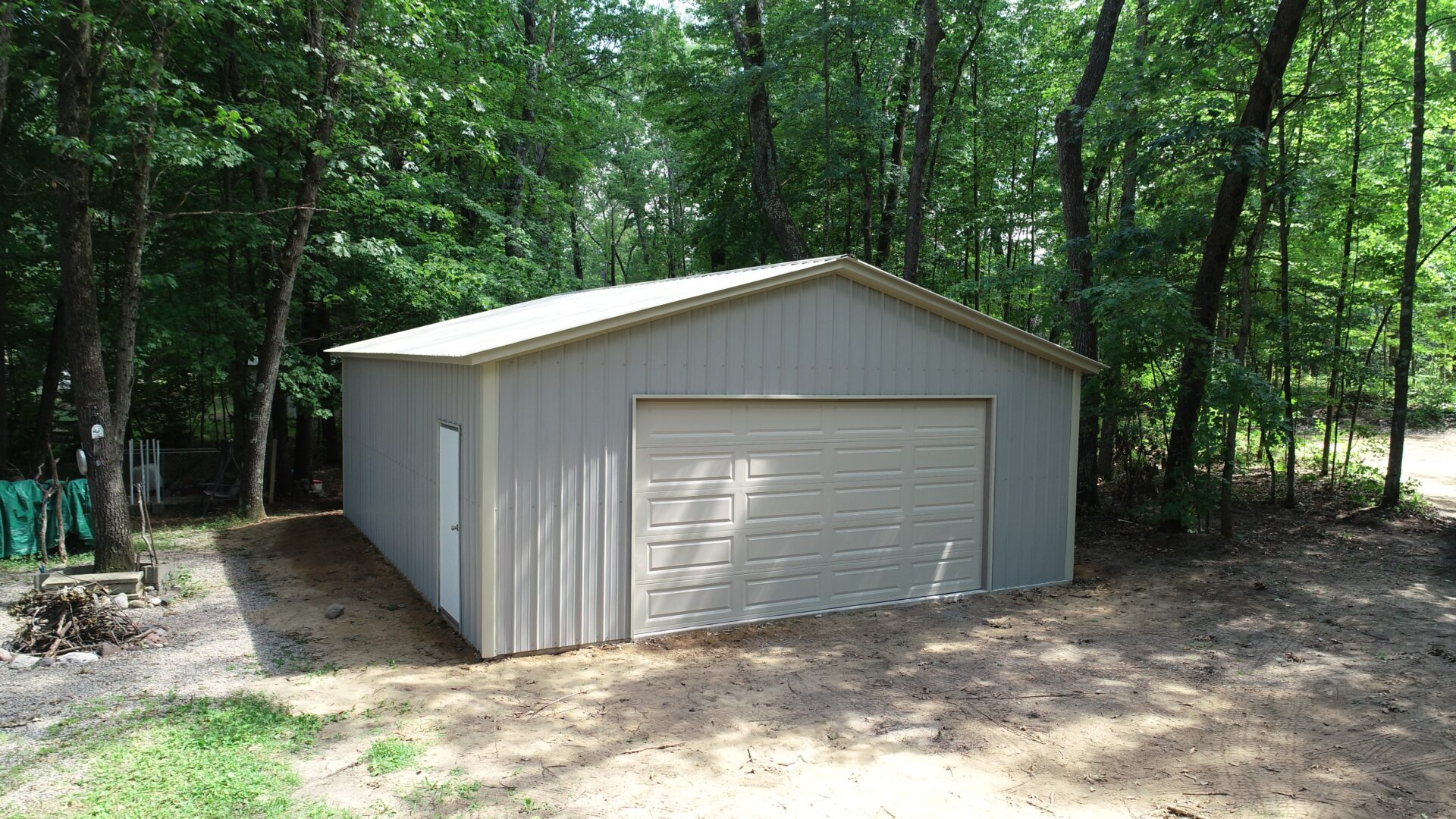 26x30x9 Metal Garage in Rantz, WI