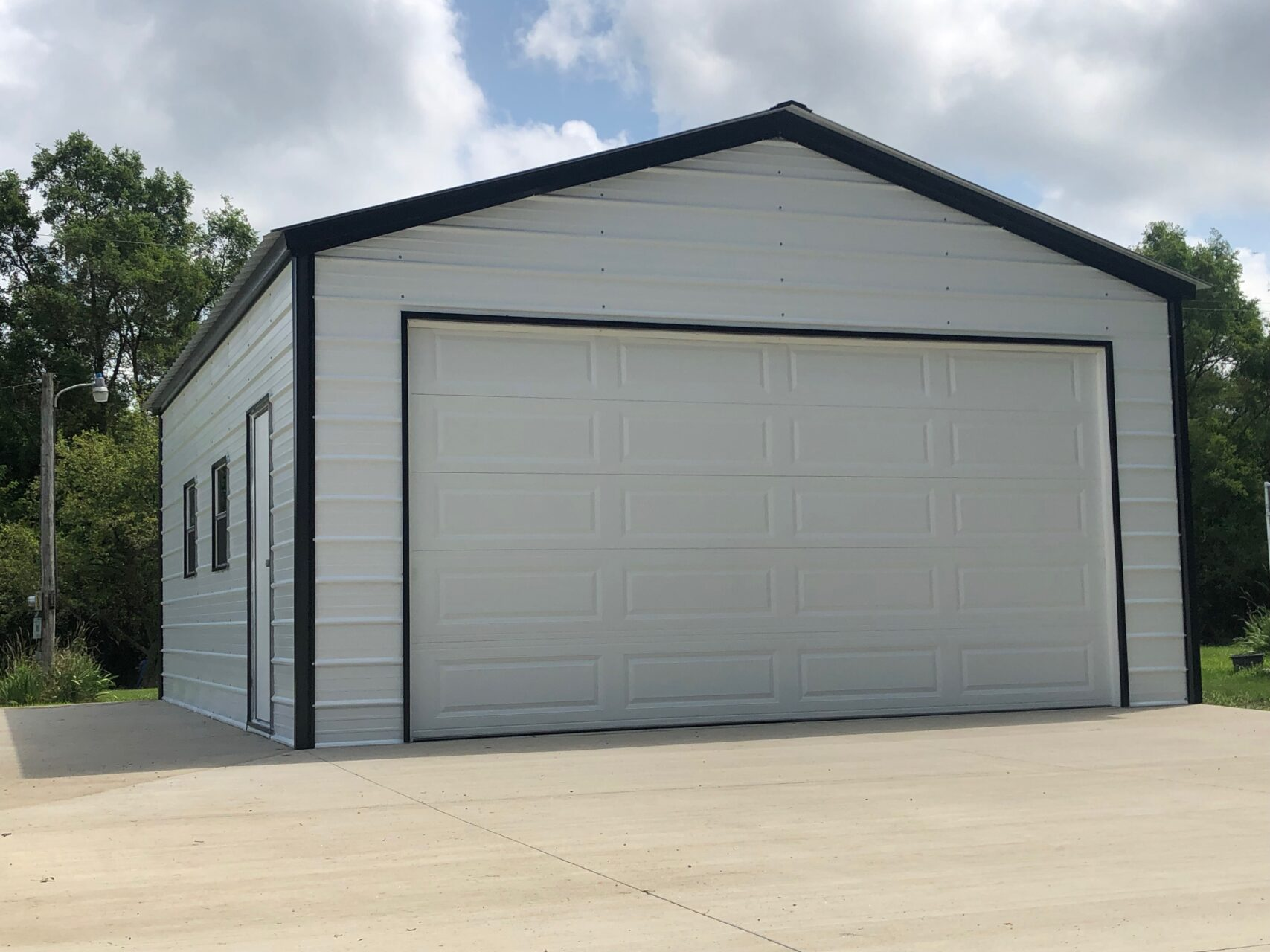 20x25x9 Steel Garage In Phillips Wi Midwest Steel Carports