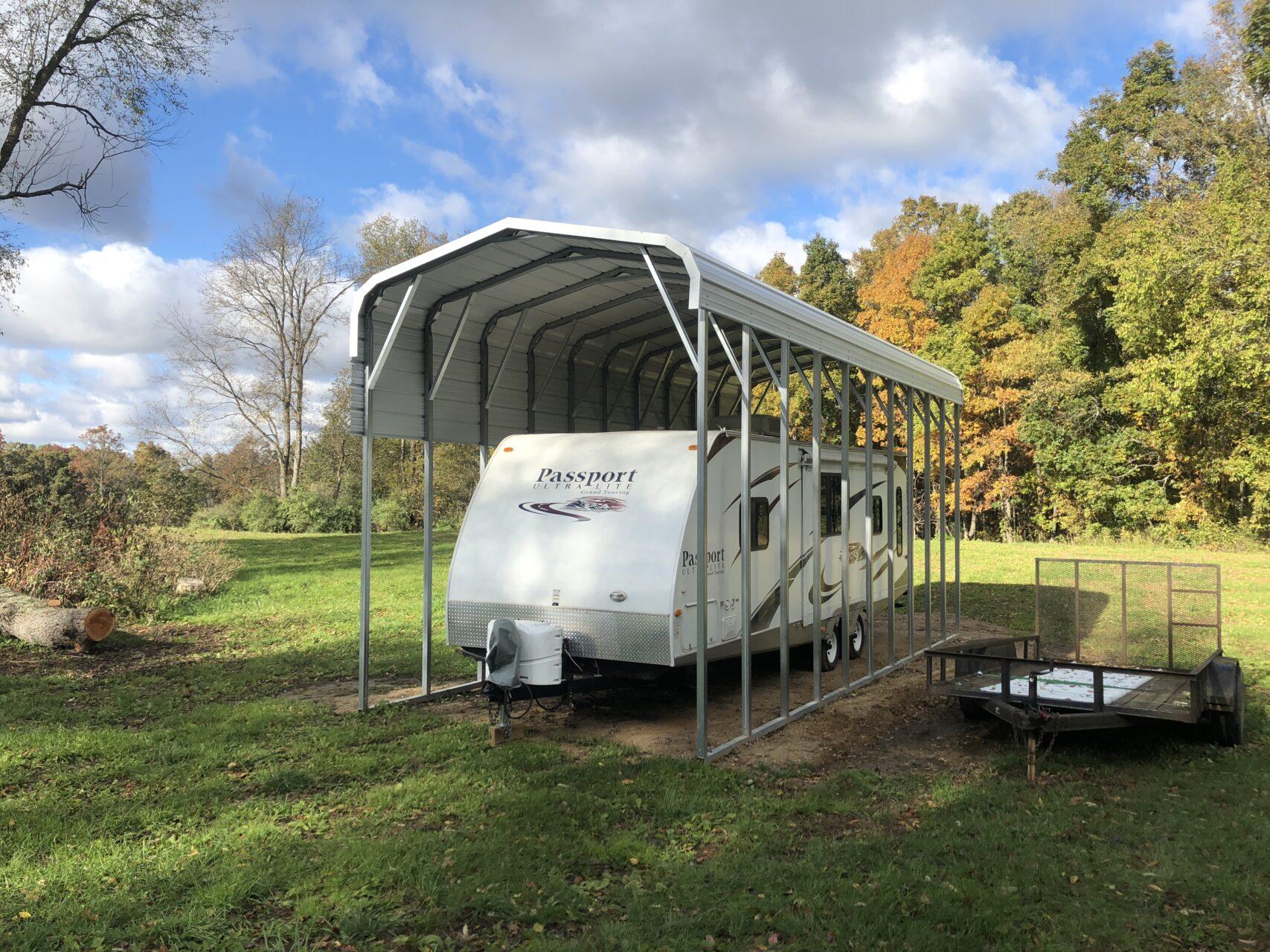 12x35x12 Metal RV Shelter