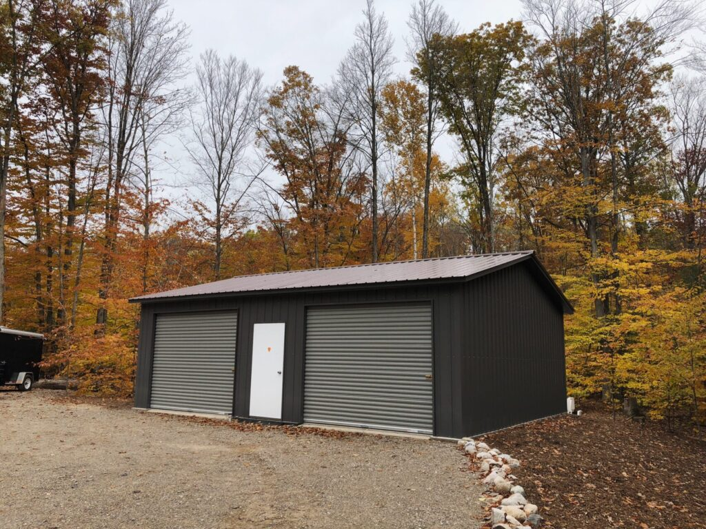 24x30x9 Side Drive Metal Garage