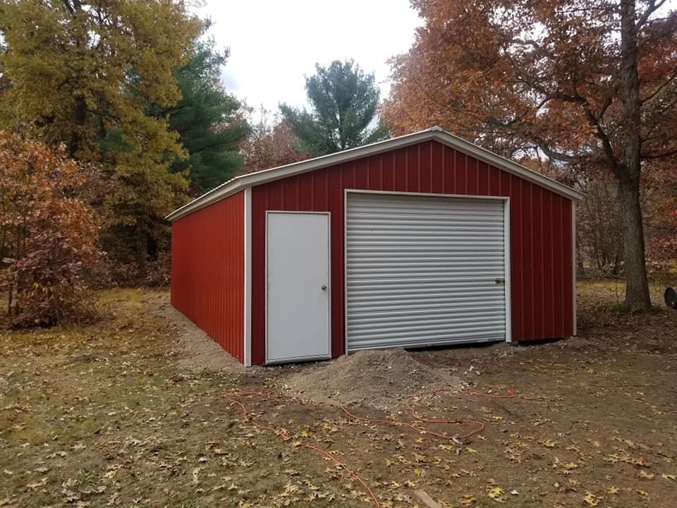 18x25x8 Metal Strorage Garage