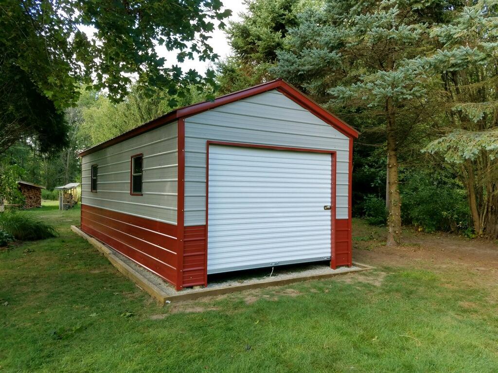 12x25x8 Steel Storage Shed