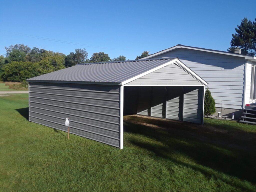 18x21x7 Steel Carports in Hersey Michigan