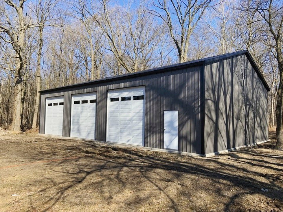 40x60x14 Steel Workshop in Polsgrove, IL