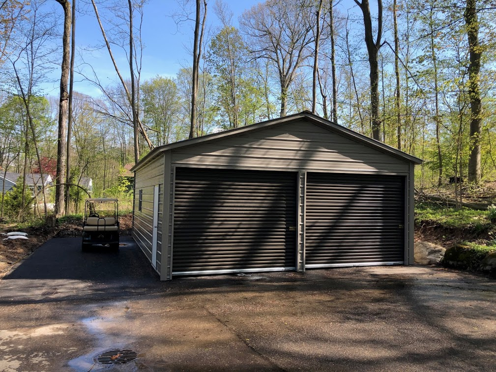 22x30x9 Steel Garage in Crown Point, IN
