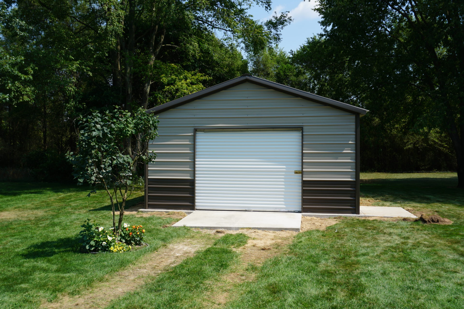 18x20x8 Steel Shed in Fairview, WI