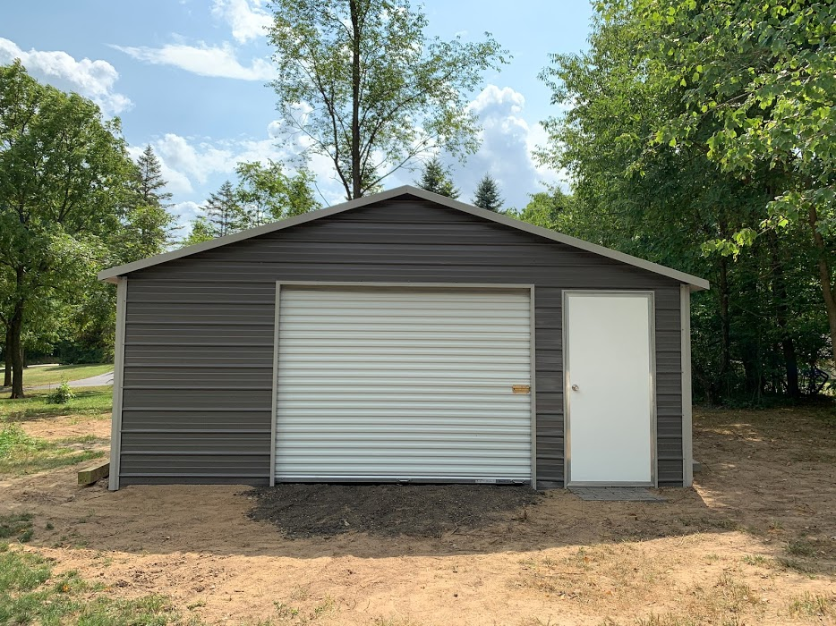 20x20x7 Steel Shed in Tomahawk, WI