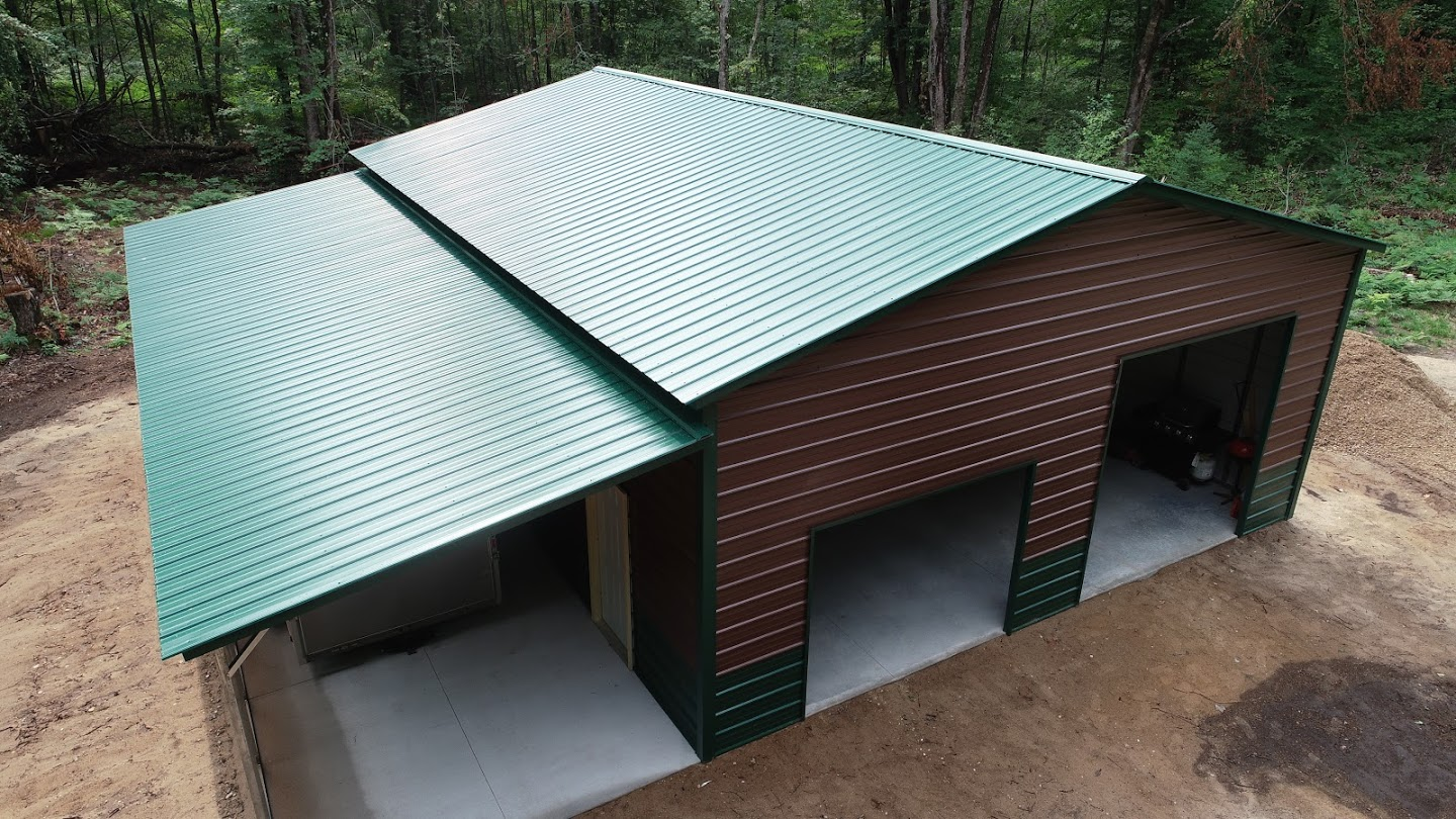 30x40x12 Steel Workshop with Lean-to in Harshaw, WI