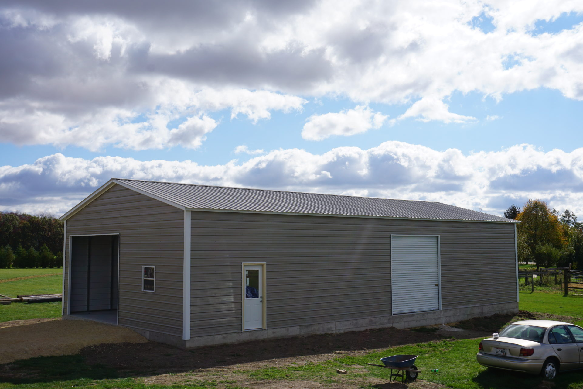 30x60x12 Steel Workshop in Polo, IL
