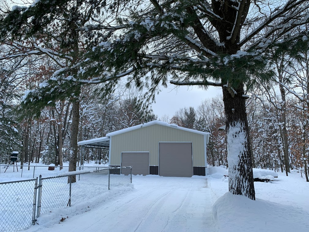 30x50x12 Steel Garage with Lean-to in Twin Lake, MI
