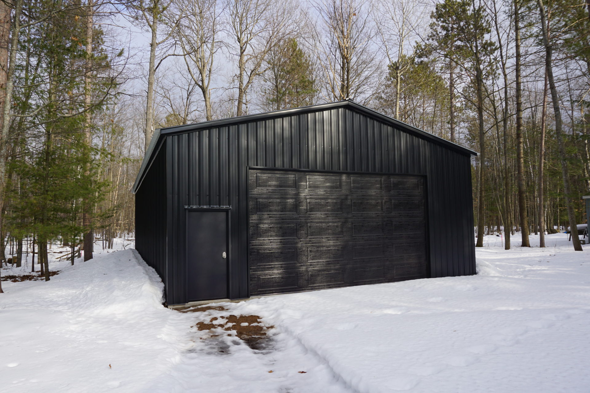 30x55x12 Metal Garage in Gaylord, MI