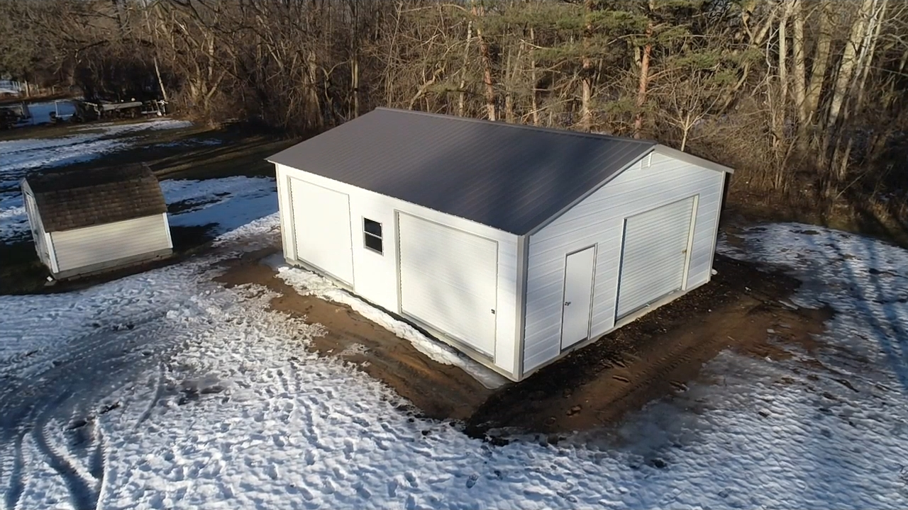 24x30x9 Metal Garage in Saginaw, MI