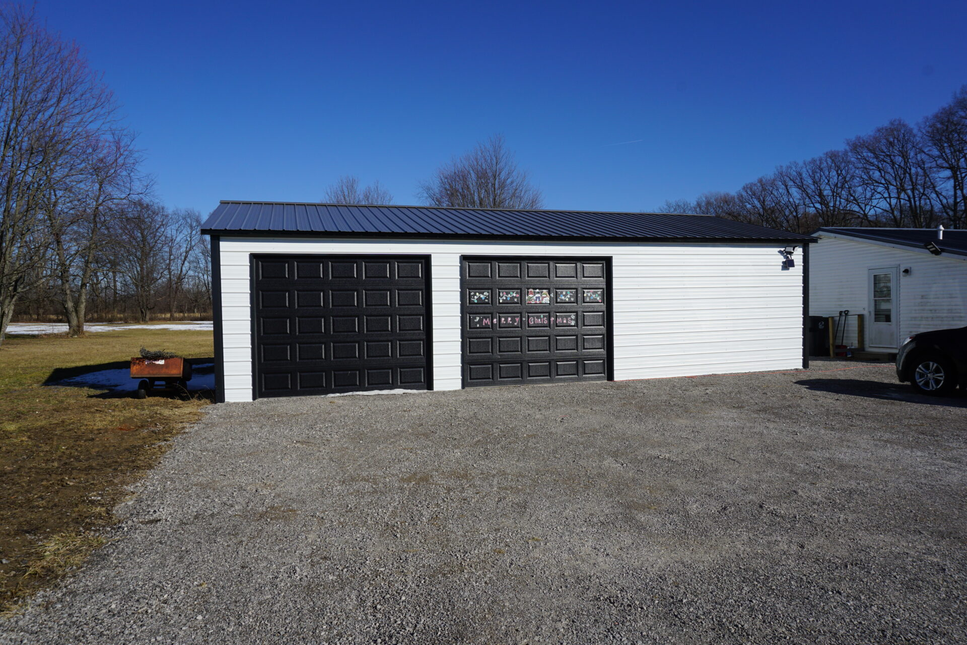 24x40x9 Metal Garage in Mt. Morris, MI