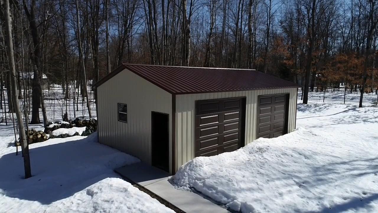 20x30x9 Metal Garage in Lake, MI