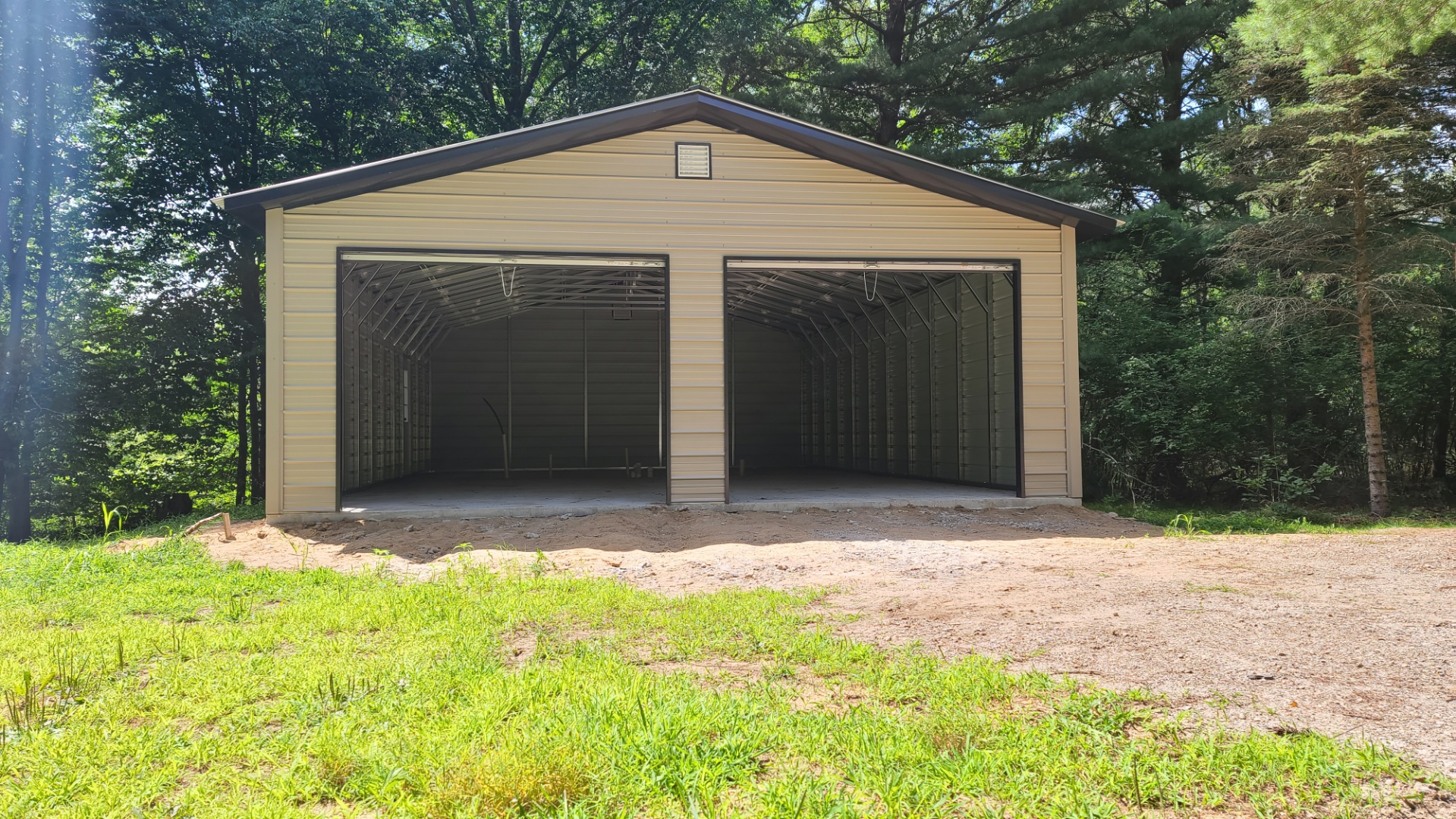 26x40x9 Steel Garage in Kent City, MI