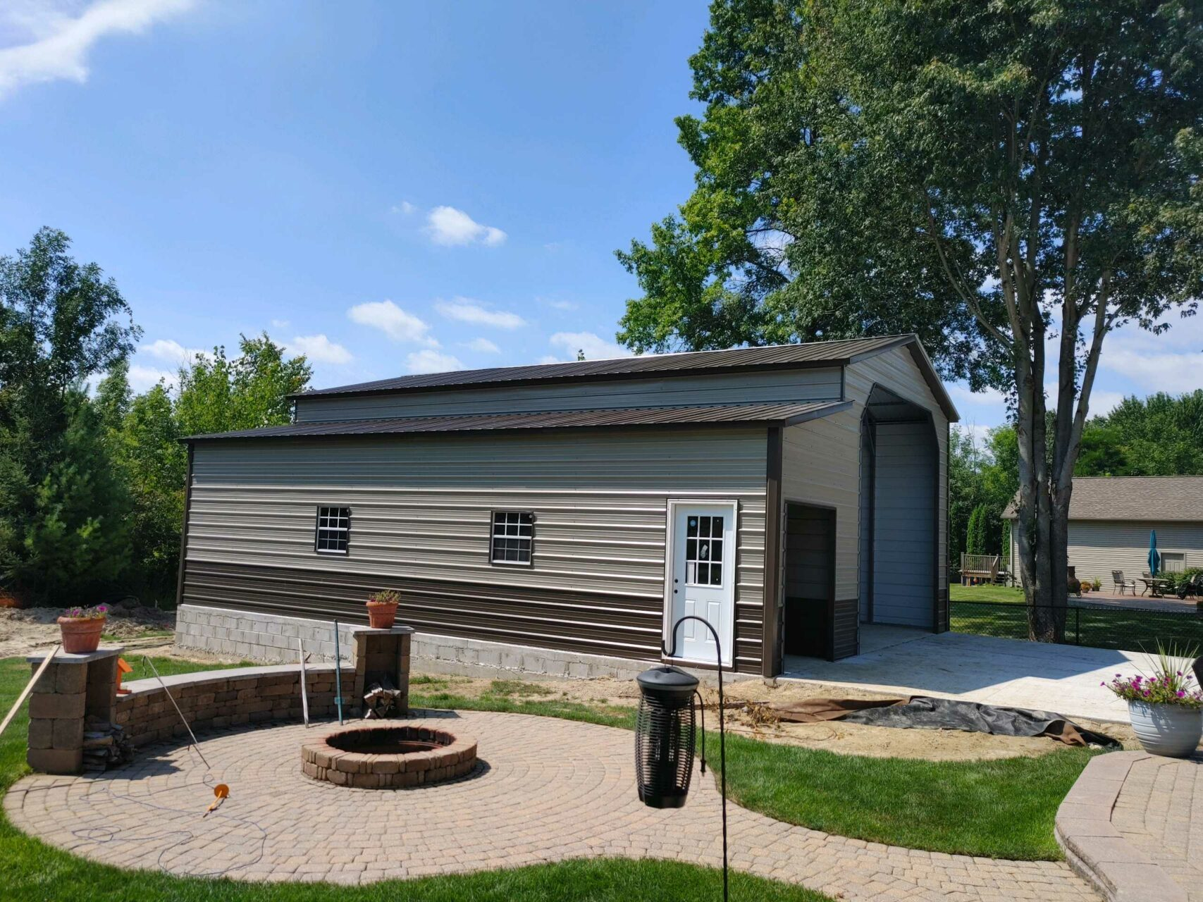 22x40x14 Steel Garage with Lean-to in East China, MI